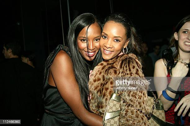 Naomi Campbell and Vivica A Fox during Naomi Campbell CoHosts Sky Wednesdays at The 40/40 Club February 9 2005 at 40/40 in New York City New York...