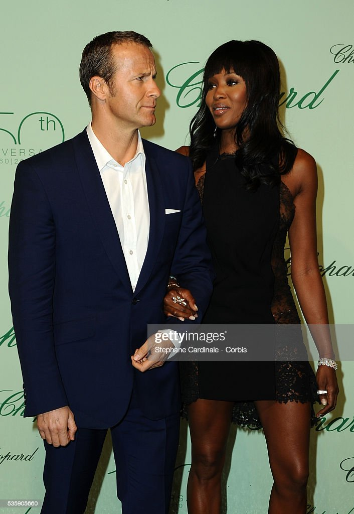 Naomi Campbell and Vladimir Doronin at the 'Chopard 150th Anniversary Party' during the 63rd Cannes International Film Festival.