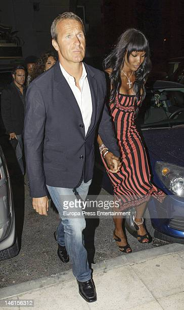 Naomi Campbell and Vladislav Dorodin attend the opening of a Cipriani restaurant on June 9 2012 in Ibiza Spain
