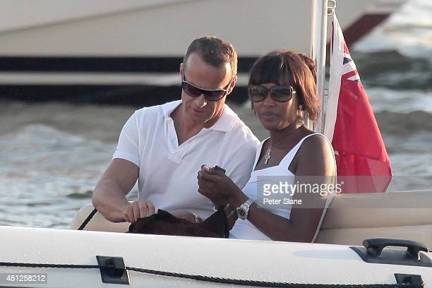 Naomi Campbell and Vladislav Doronin are seen on August 15 2009 in SaintTropez France
