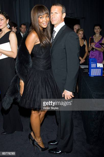 MOSCOW NOVEMBER 20 Naomi Campbell and Vladislav Doronin attend Vogue Russia's 10th Anniversary grand gala dinner on November 20 2008 in Moscow Russia