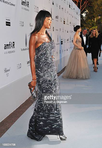 Naomi Campbell arrives at amfAR's Cinema Against AIDS 2010 benefit gala at the Hotel du Cap on May 20 2010 in Antibes France