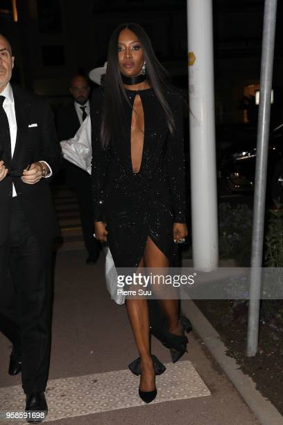 Naomi Campbell arrives at Spike Lee's movie BlacKkKlansman party during the 71st annual Cannes Film Festival at on May 14 2018 in Cannes France