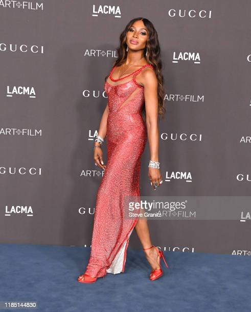 Naomi Campbell arrives at the 2019 LACMA Art Film Gala Presented By Gucci at LACMA on November 02 2019 in Los Angeles California