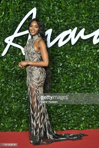 Naomi Campbell arrives at The Fashion Awards 2019 held at Royal Albert Hall on December 02, 2019 in London, England.
