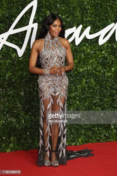 Naomi Campbell arrives at The Fashion Awards 2019 held at Royal Albert Hall on December 02 2019 in London England