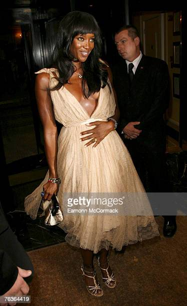 Naomi Campbell arrives at the London Black Leaders' Dinner at the Dorchester Hotel on August 28 2007 in London England
