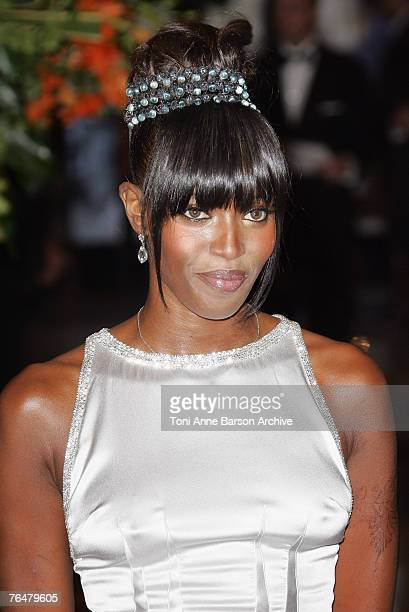 Naomi Campbell arrives at the 'Unite For A Better World Gala Dinner' on September 2 2007 at the Hotel de Paris in Monte Carlo Monaco The gala dinner...