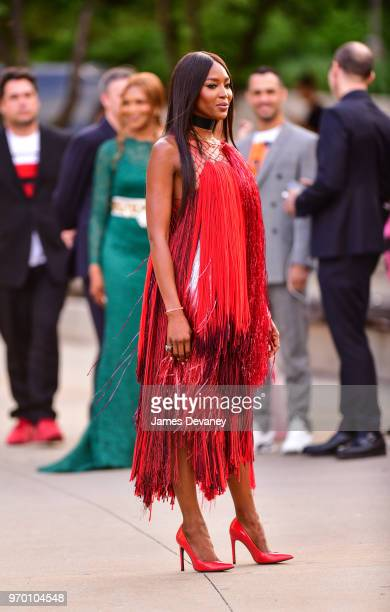 Naomi Campbell arrives to the 2018 CFDA Fashion Awards at Brooklyn Museum on June 4 2018 in New York City