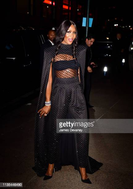 Naomi Campbell arrives to wedding reception for Char Defrancesco and Marc Jacobs at The Grill and The Pool on April 6 2019 in New York City