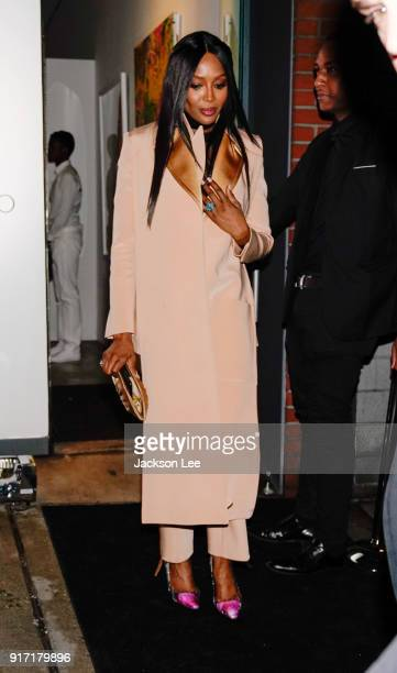 Naomi Campbell at Jimmy Choo show on February 11 2018 in New York City