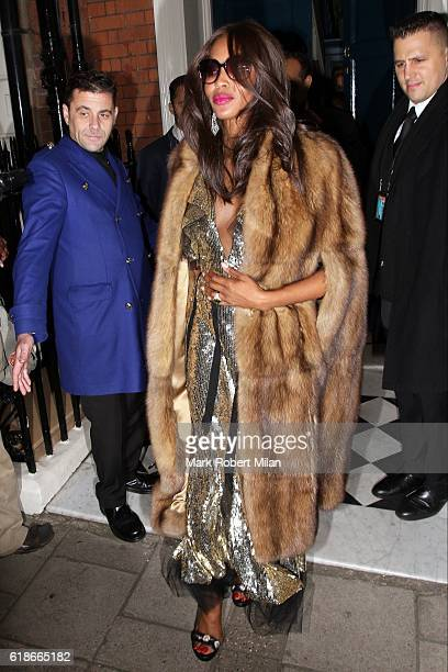 Naomi Campbell at Mark's Club on October 27 2016 in London England