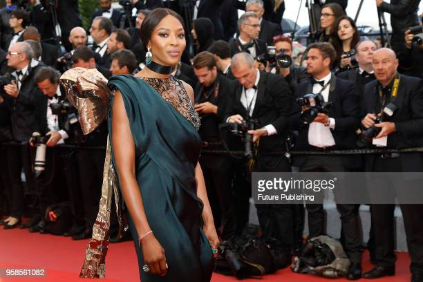 """Naomi Campbell at the """"BlacKkKlansman"""" premiere during the 71st Cannes Film Festival at the Palais des Festivals on May14, 2018 in Cannes, France."""