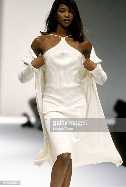 Naomi Campbell at the Laura Biagiotti Spring 1996 show circa 1995 in Milan Italy