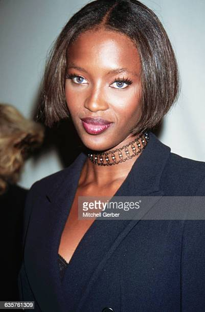 Naomi Campbell at the opening of Emporium Armani.