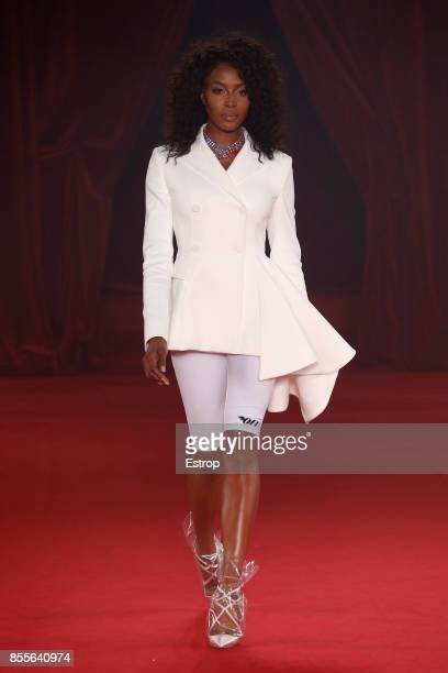 Naomi Campbell at the runway during the Off/White show as part of the Paris Fashion Week Womenswear Spring/Summer 2018 on September 28 2017 in Paris...
