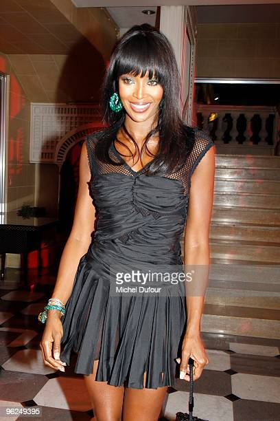Naomi Campbell attend the Fashion Dinner for AIDS at the Pavillon d'Armenonville on January 28, 2010 in Paris, France.