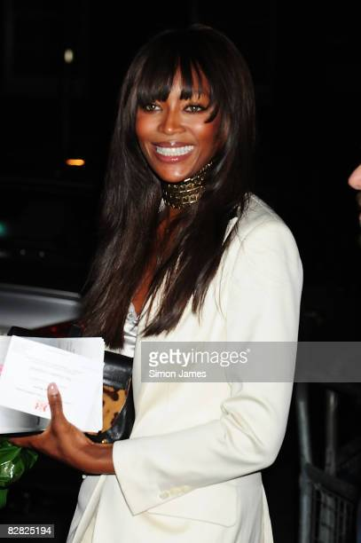 Naomi Campbell attends 25th Anniversary Party For London Fashion Week at 10 Downing Street on September 15, 2008 in London, England.