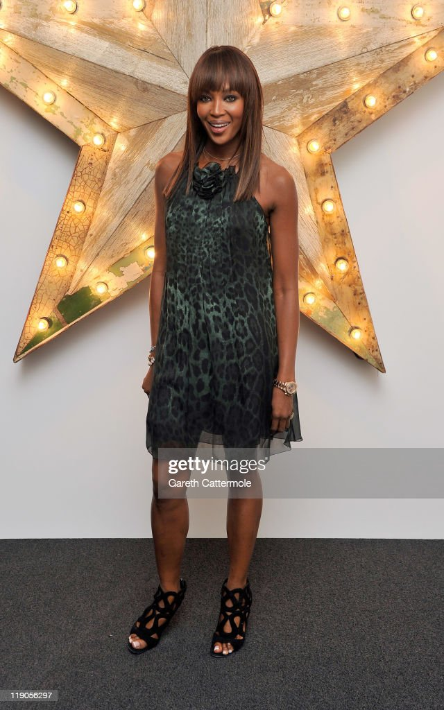 Naomi Campbell attends a party for Dolce And Gabbana hosted by Net-a-Porter at Westfield on July 14, 2011 in London, England.