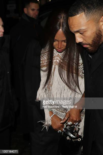 Naomi Campbell attends a Warner Records BRIT Awards 2020 after party at Chiltern Firehouse on February 18 2020 in London England