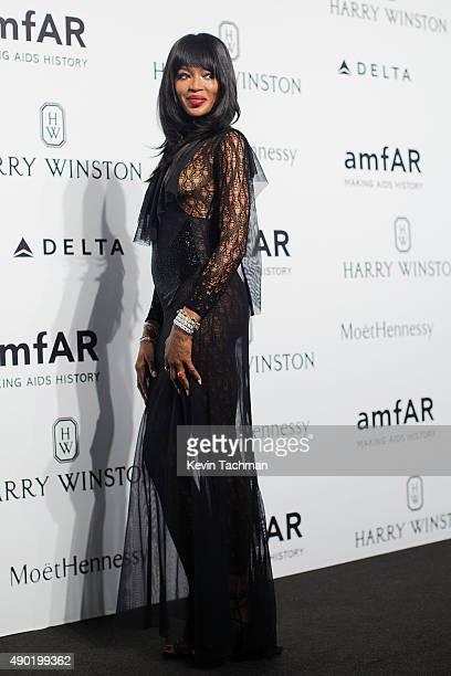 Naomi Campbell attends amfAR Milano 2015 at La Permanente on September 26 2015 in Milan Italy