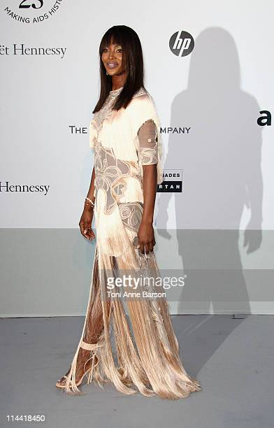 Naomi Campbell attends amfAR's Cinema Against AIDS Gala during the 64th Annual Cannes Film Festival at Hotel Du Cap on May 19, 2011 in Antibes,...