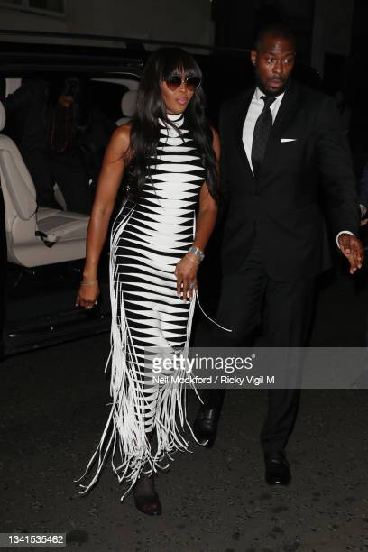 Naomi Campbell attends an intimate dinner and party hosted by British Vogue and Tiffany & Co. To celebrate Fashion and Film during London Fashion...