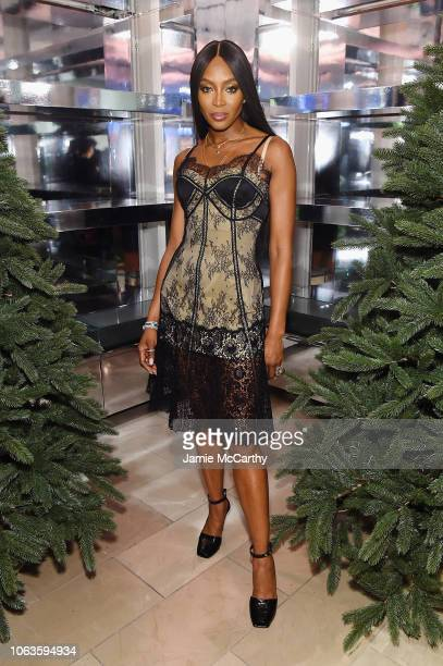 Naomi Campbell attends as Naomi Campbell and Matt Smith celebrate 'Close Your Eyes And Think Of Christmas' in New York on November 19 2018 in New...