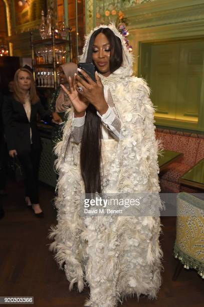 Naomi Campbell attends as Tiffany Co partners with British Vogue Edward Enninful Steve McQueen Kate Moss and Naomi Campbell to celebrate fashion and...