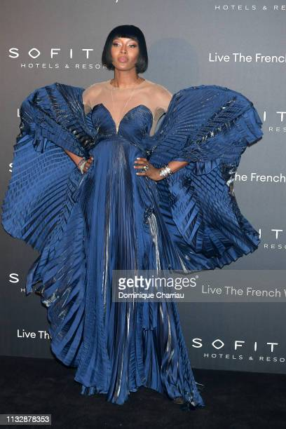 Naomi Campbell attends La Nuit by Sofitel Party with CR Fashion Book at Pavillon Cambon on February 28 2019 in Paris France