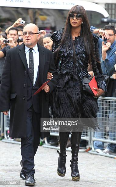 Naomi Campbell attends memorial service for Alexander McQueen at St Paul's Cathedral on September 20 2010 in London England