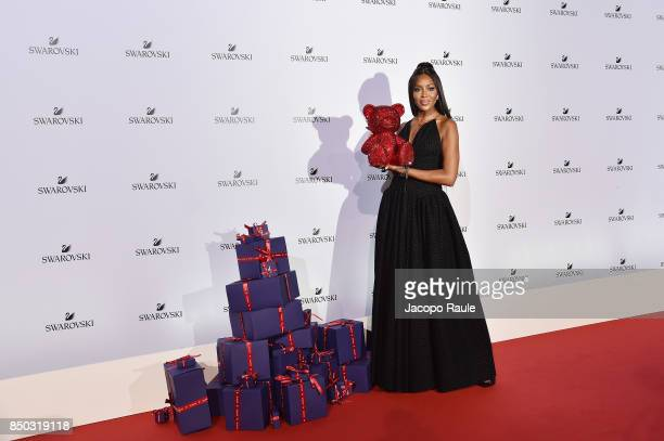 Naomi Campbell attends Swarovski Crystal Wonderland Party on September 20 2017 in Milan Italy