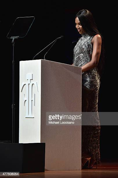 Naomi Campbell attends the 2015 Fragrance Foundation Awards at Alice Tully Hall at Lincoln Center on June 17 2015 in New York City