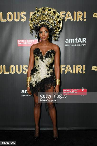 Naomi Campbell attends the 2017 amfAR The Naked Heart Foundation Fabulous Fund Fair at Skylight Clarkson Sq on October 28 2017 in New York City
