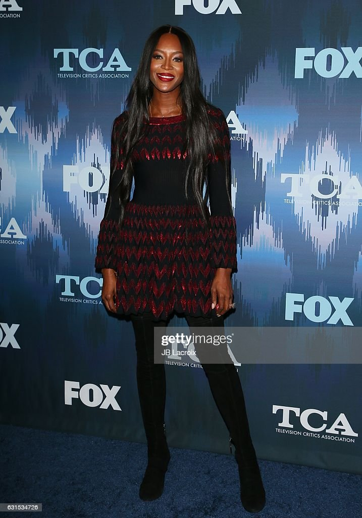 Naomi Campbell attends the 2017 Winter TCA Tour - FOX All-Star Party on January 11, 2017 in Pasadena, California.