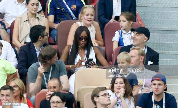 Naomi Campbell attends the 2018 FIFA World Cup Russia Final match between France and Croatia at Luzhniki Stadium on July 15 2018 in Moscow Russia