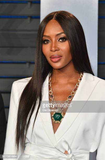 Naomi Campbell attends the 2018 Vanity Fair Oscar Party hosted by Radhika Jones at Wallis Annenberg Center for the Performing Arts on March 4 2018 in...