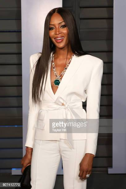 Naomi Campbell attends the 2018 Vanity Fair Oscar Party hosted by Radhika Jones at Wallis Annenberg Center for the Performing Arts on March 4, 2018...