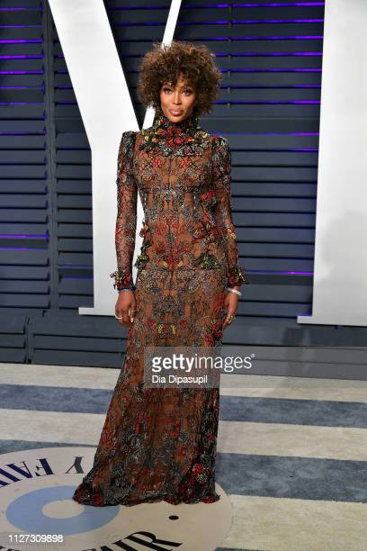 Naomi Campbell attends the 2019 Vanity Fair Oscar Party hosted by Radhika Jones at Wallis Annenberg Center for the Performing Arts on February 24,...