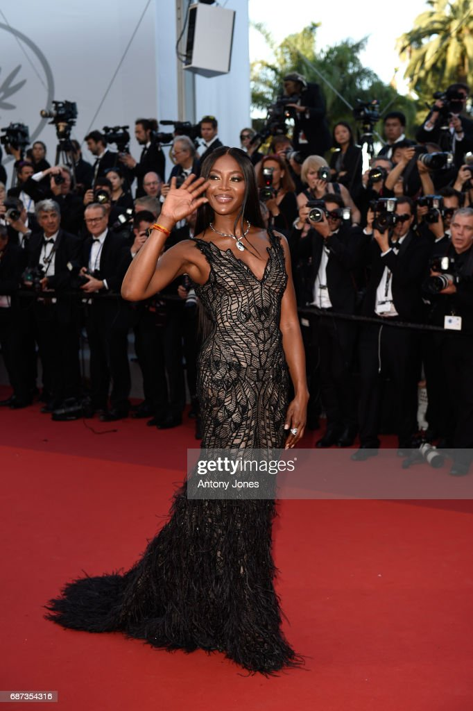 Naomi Campbell attends the 70th Anniversary of the 70th annual Cannes Film Festival at Palais des Festivals on May 23, 2017 in Cannes, France.