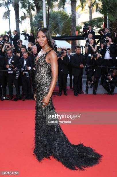 Naomi Campbell attends the 70th Anniversary screening during the 70th annual Cannes Film Festival at Palais des Festivals on May 23 2017 in Cannes...
