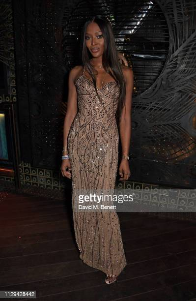 Naomi Campbell attends the ABB FIA Formula E HKT Hong Kong EPrix Gold Rush party celebrating the 50th Formula E race at Ophelia on March 9 2019 in...