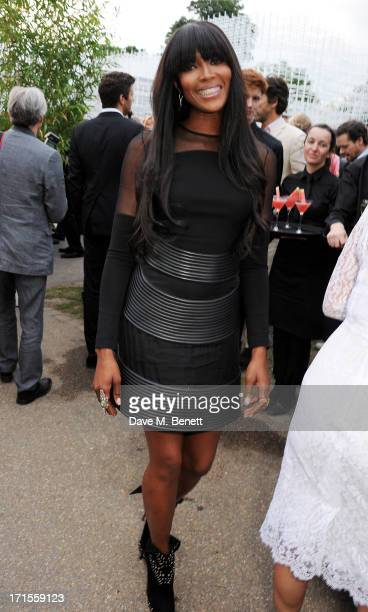 Naomi Campbell attends the annual Serpentine Gallery Summer Party cohosted by L'Wren Scott at The Serpentine Gallery on June 26 2013 in London England