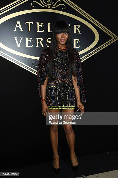 Naomi Campbell attends the Atelier Versace Haute Couture Fall/Winter 20162017 show as part of Paris Fashion Week on July 3 2016 in Paris France