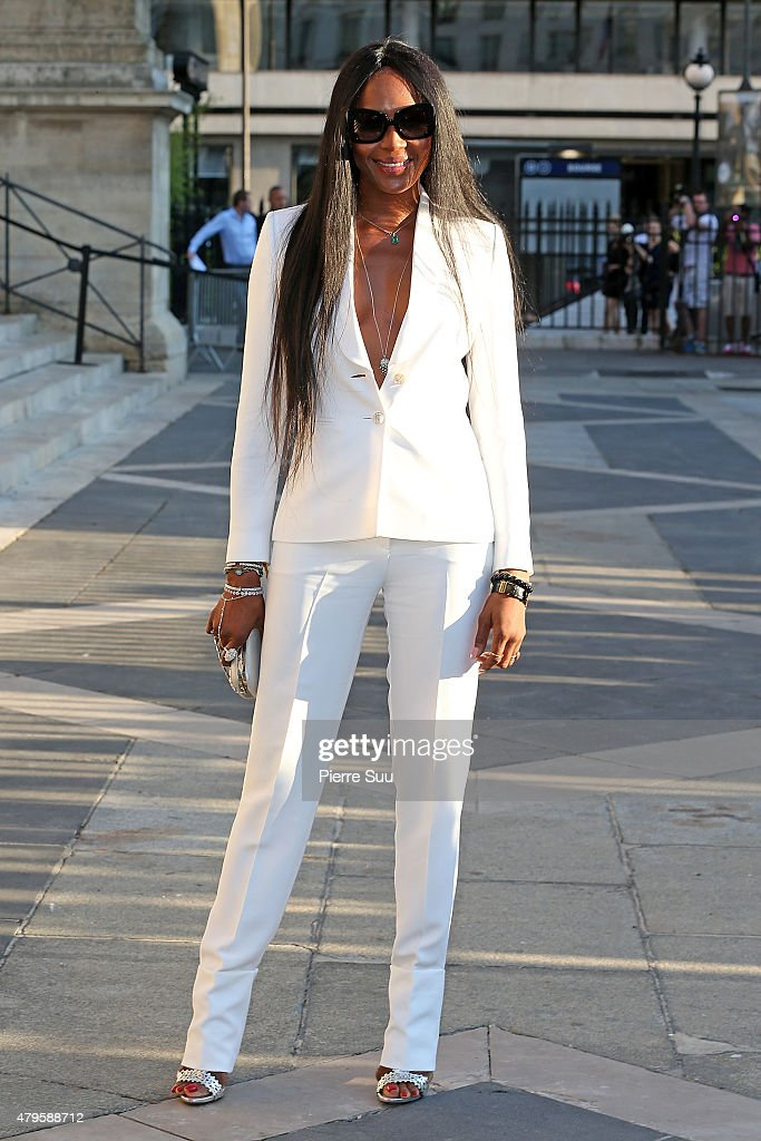Naomi Campbell attends the Atelier Versace show as part of Paris Fashion Week Haute Couture Fall/Winter 2015/2016 on July 5, 2015 in Paris, France.