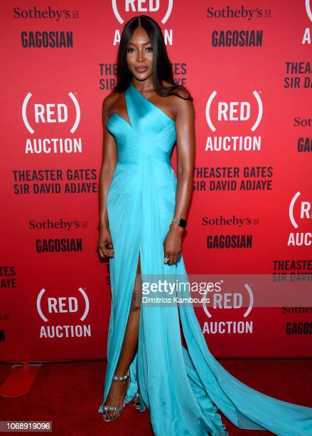 Naomi Campbell attends The Auction with Theaster Gates Sir David Adjaye and Bono in collaboration with Sotheby's and Gagosian at The Moore Building...