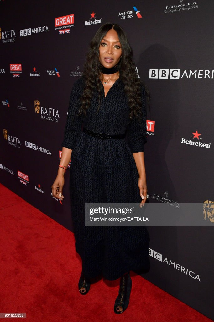Naomi Campbell attends The BAFTA Los Angeles Tea Party at Four Seasons Hotel Los Angeles at Beverly Hills on January 6, 2018 in Los Angeles, California.