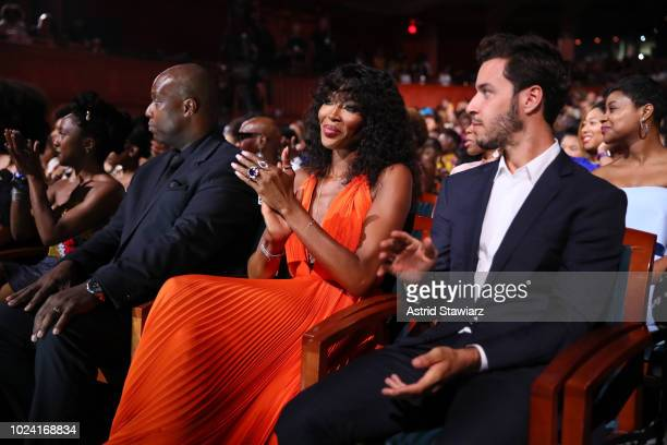 Naomi Campbell attends the Black Girls Rock! 2018 Show at NJPAC on August 26, 2018 in Newark, New Jersey.
