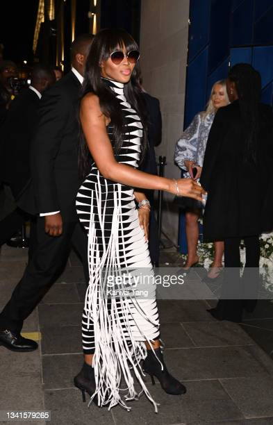 Naomi Campbell attends the British Vogue x Tiffany & Co. Fashion and Film party at The Londoner Hotel on September 20, 2021 in London, England.