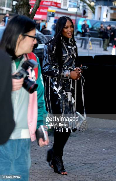 Naomi Campbell attends the Burberry Autumn/Winter 2020 show during London Fashion Week on February 17 2020 in London England